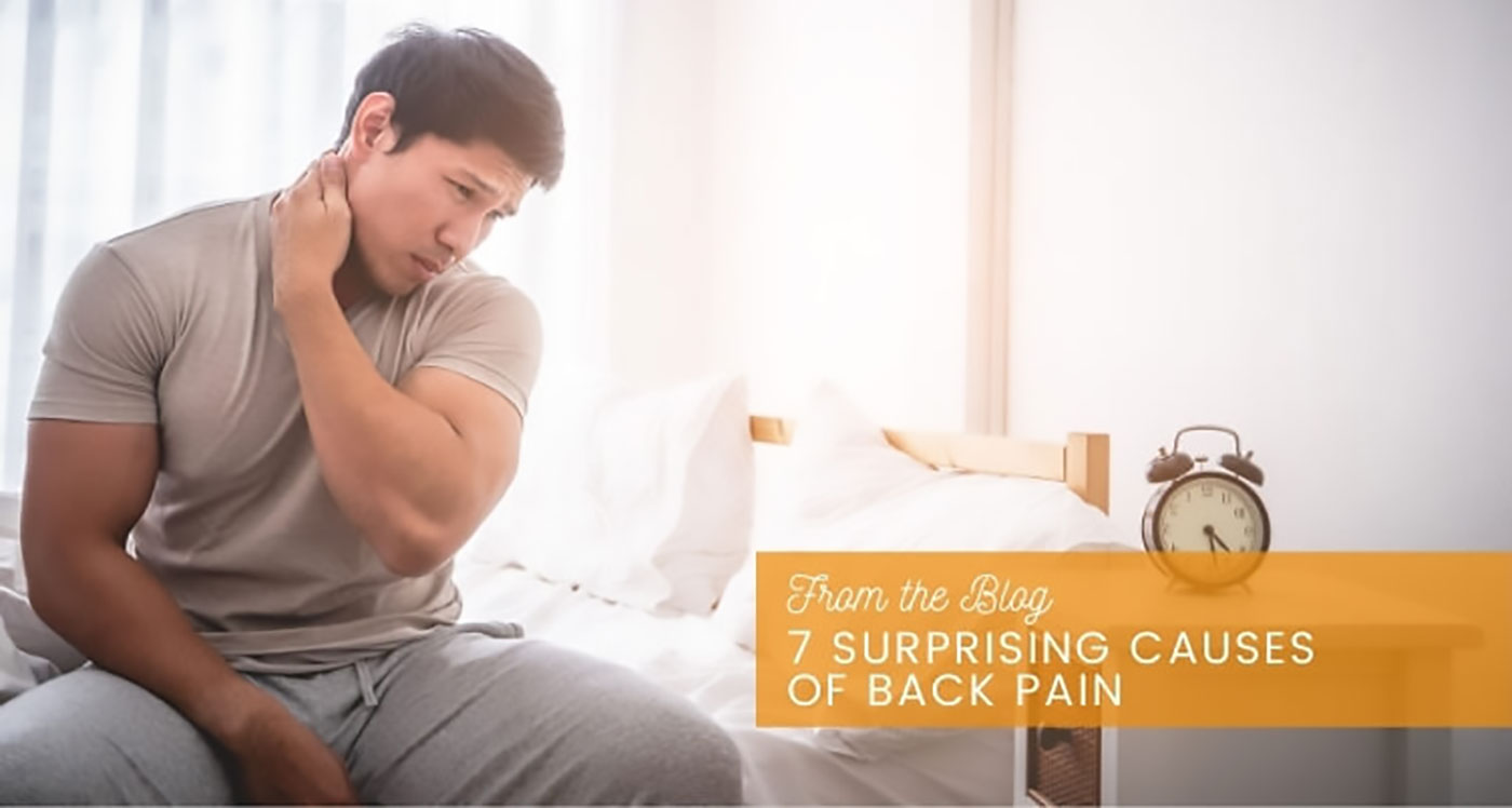7 surprising causes of back pain